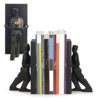 953202132-114 - Kikkerland® Pushing Men Bookends - thumbnail
