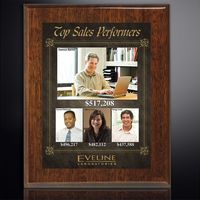 """314009300-133 - Aberdeen Walnut Plaque 10-1/2"""" x 13"""" with Sublimated Plate - thumbnail"""