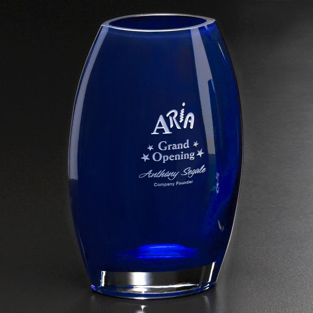 """503388613-133 - Cobalt Oval Vase 8-1/2"""" - thumbnail"""