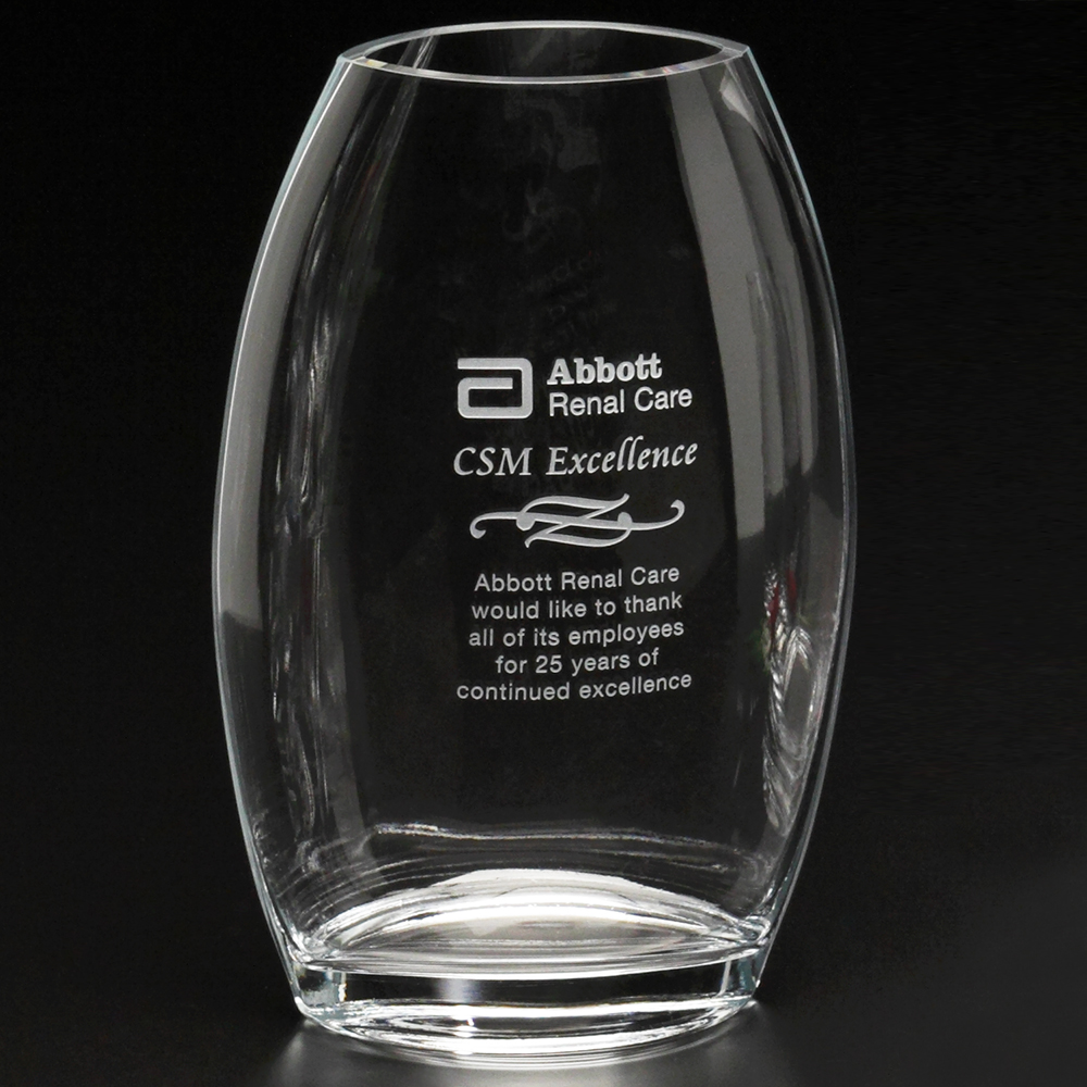 "513388584-133 - Clear Oval Vase 10-1/2"" - thumbnail"