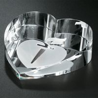 "701602240-133 - Slant Heart Paperweight 2-3/4"" W - thumbnail"