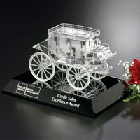 "712555992-133 - Stagecoach Award on Black Base 4-1/2"" - thumbnail"