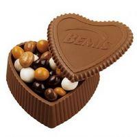 105554232-105 - Custom Molded Chocolate Heart Box w/ Premium Confection - thumbnail
