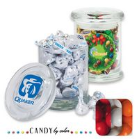 105554430-105 - Air Tight Gourmet Glass Jar Filled w/ Gumballs - thumbnail