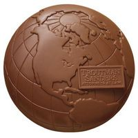 115554207-105 - Molded Chocolate Globe - 2 Lb. - thumbnail
