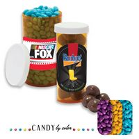 115554301-105 - Small Pill Bottle Filled w/Chocolate Sunflower Seeds - thumbnail