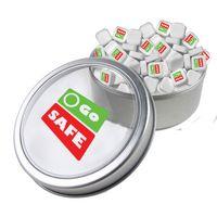 125555267-105 - Large Top View Tin - Imprinted Square Mints - thumbnail