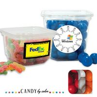 165554351-105 - Small Square Tub Filled w/ Gumballs - thumbnail