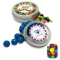 185554292-105 - Rim Tin w/ Window Assorted Gumballs Candy by Color - thumbnail