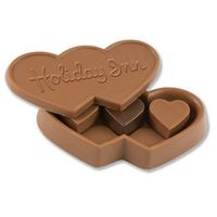 185554495-105 - 6 oz. Custom Triple Chocolate Heart Box w/Stock Chocolate Hearts - thumbnail