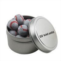 304520972-105 - Round Tin w/Chocolate Baseballs - thumbnail