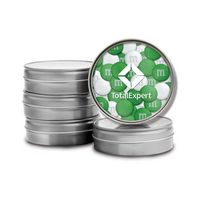 326099473-105 - Silver Tins with Custom Printed Lid - 1.5oz. Color Choice M&M'S® - thumbnail