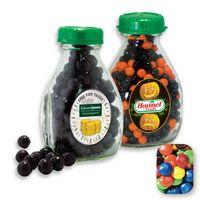 365554458-105 - Milk Pint Glass Bottle Filled w/ Assorted M&M's - thumbnail