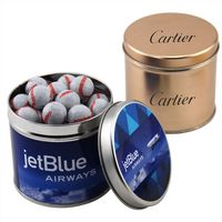 394522081-105 - Round Tin w/Chocolate Baseballs - thumbnail