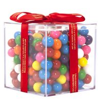 545554916-105 - Acrylic Gift Jars Cube with Mini Gumballs - thumbnail