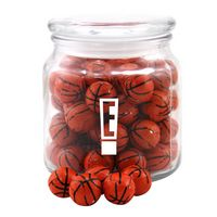 554522806-105 - Jar w/Chocolate Basketballs - thumbnail
