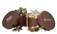 555554783-105 - Large Hat Box w/Twist Wrapped Truffles (40 Pieces) - thumbnail