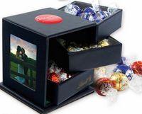 715554508-105 - Leatherette Swing Box W/Drawers 18 Lindor Chocolate Balls - thumbnail