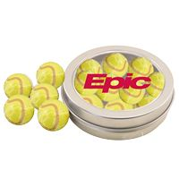 764520696-105 - Round Tin w/Chocolate Tennis Balls - thumbnail