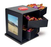 775554726-105 - Godiva Leatherette Swing Box w/Drawers - thumbnail