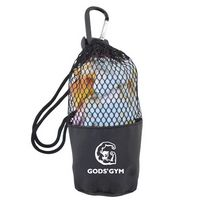 785419958-105 - Cooling Towel in Mesh Drawsting Pouch w/Carabiner - thumbnail