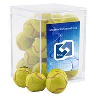 954521411-105 - Acrylic Box w/Chocolate Tennis Balls - thumbnail