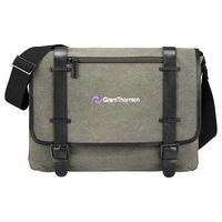 "544169604-115 - Kenneth Cole® Canvas 17"" Computer Messenger - thumbnail"