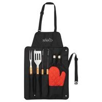 544535305-115 - BBQ Now Apron and 7 piece BBQ Set - thumbnail