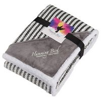 905812827-115 - Field & Co.® Chevron Striped Sherpa Blanket w/Card - thumbnail