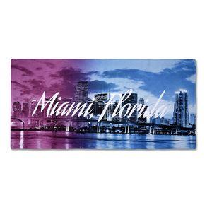 346507784-116 - 25% Polyester/75% Cotton Blended Beach Towel 28x58 - thumbnail