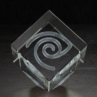 504165268-116 - Extra Large Jewel Cube 3D Crystal Award - thumbnail