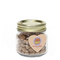 585132557-116 - Cat Treats in Half Pint Jar w/ Heart Magnet - thumbnail
