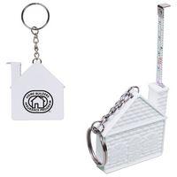 145666281-159 - 3 Ft. House Tape Measure Key Chain - thumbnail