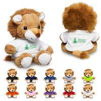 """155717538-159 - 7"""" Plush Lion w/T-Shirt - thumbnail"""
