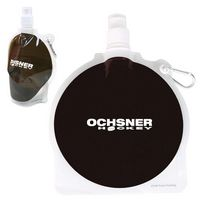 185666766-159 - HydroPouch!™ 24 Oz. Hockey Puck Collapsible Water Bottle - thumbnail