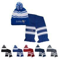 346063174-159 - Knit Stripe Comfy Beanie/Scarf Combo - thumbnail