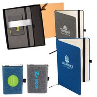 365703646-159 - STRAND™ Snow Canvas Notebook/Executive Charger Gift Set - thumbnail