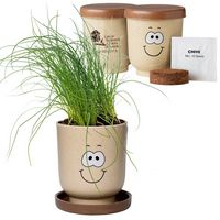 374434738-159 - Goofy Group™ Grow Pot Eco-Planter w/Chive Seeds - thumbnail