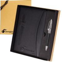 384913567-159 - Naples™ Two-Tone Journal & Pen Gift Set - thumbnail