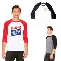 555667148-159 - Unisex Bella+Canvas® 3/4 Sleeve Baseball Tee Shirt - thumbnail