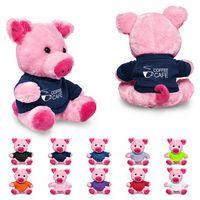 """725716438-159 - 7"""" Plush Pig w/T-Shirt - thumbnail"""