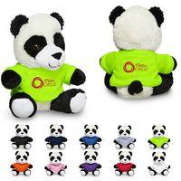 "725717126-159 - 7"" Plush Panda w/T-Shirt - thumbnail"