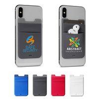 776243860-159 - Lycra® Dual Phone Pocket & Wireless Earbud Holder - thumbnail