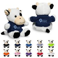 "795716621-159 - 7"" Plush Cow w/T-Shirt - thumbnail"