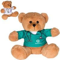"995446651-159 - 7"" Doctor or Nurse Plush Bear w/T-Shirt - thumbnail"