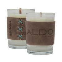 305455037-190 - HARPER 8oz Candle with Leather Sleeve - thumbnail