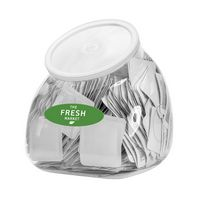 396439127-190 - 94 oz. Single Use Sanitizer Tub Display (Includes 500 Blank Packets) - thumbnail
