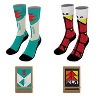 "526360132-190 - 18"" Dye-Sublimated Socks (Pair) w/Tri-fold Packaging - thumbnail"
