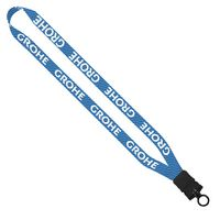 "576243867-190 - 3/4"" RPET Dye-Sublimated Lanyard w/ Plastic Snap-Buckle Release & O-Ring - thumbnail"