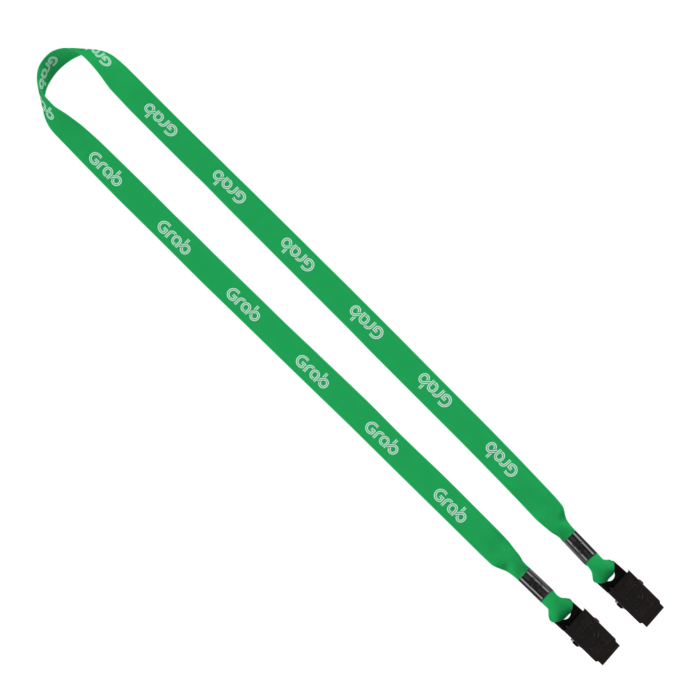 "585322434-190 - 5/8"" Tubular Dye Sublimated Double Bulldog Clip Lanyard - thumbnail"